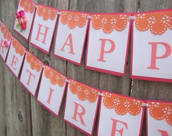 Floral party banner -- custom colors