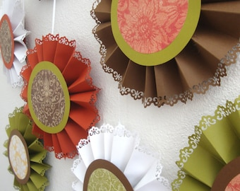 Shades of Autumn paper medallions