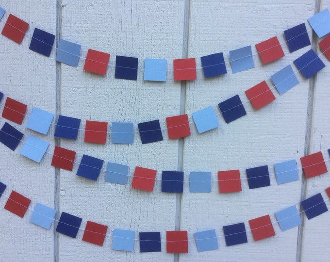 Square Party Garland Decoration in Your Custon Colors