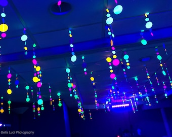 Glow Party Decorations / Neon garlands for black light party