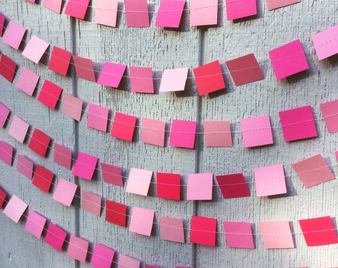 Square Party Garland Decoration