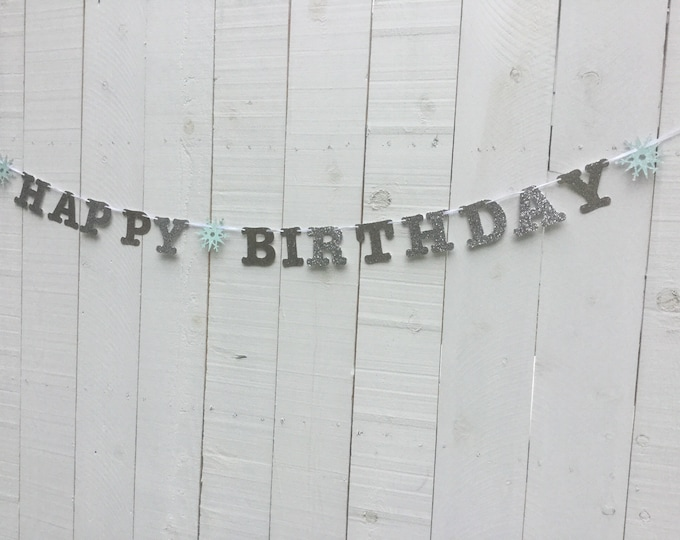 Happy birthday Frozen-theme party banner