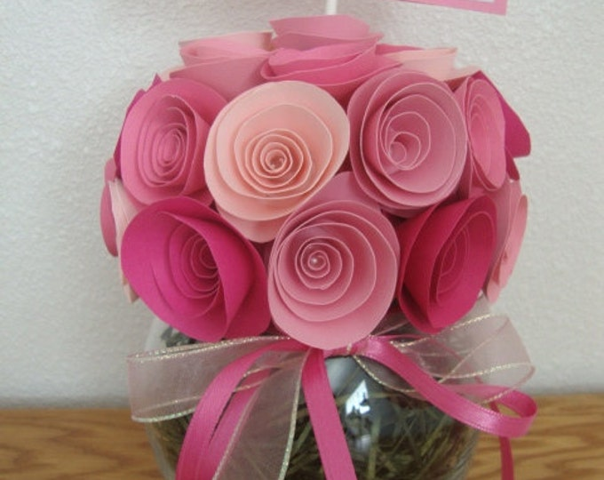 Rolled paper flower bouquet for special occasions