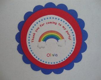 Rainbow party tags