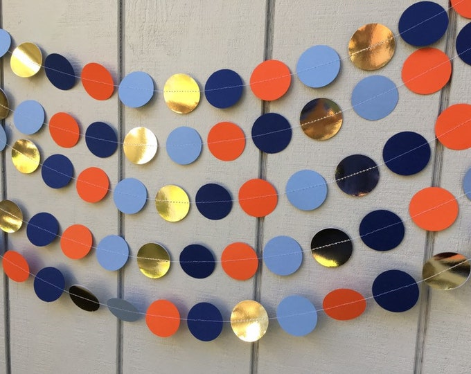 "2"" circle garland for birthday, wedding, party or baby shower"