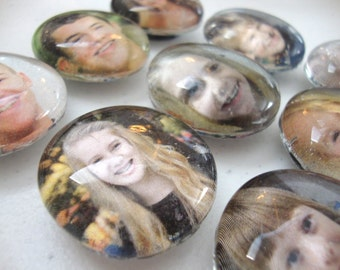 Set of 10 Custom Photo Magnets With Your Own Pictures