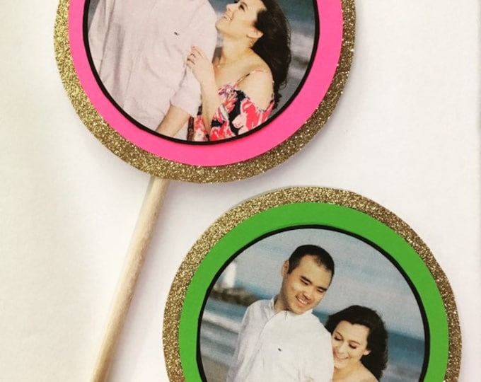 Custom Photo centerpiece for engagements, bridal showers, weddings, anniversaries