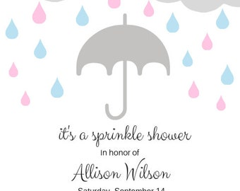 It's a Sprinkle Shower baby shower gender reveal invitation digital file to download