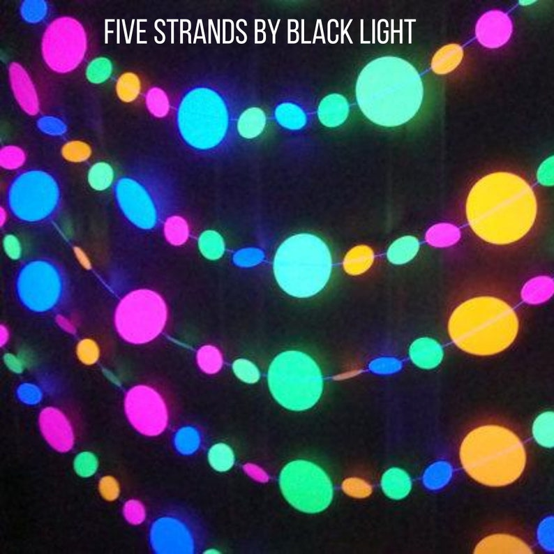 Glow Party Decorations Neon Garlands Black Light Party image 0
