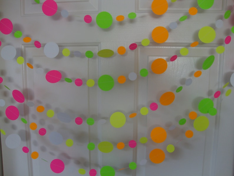 Glow Party Decorations / Six-foot neon garlands for black image 0