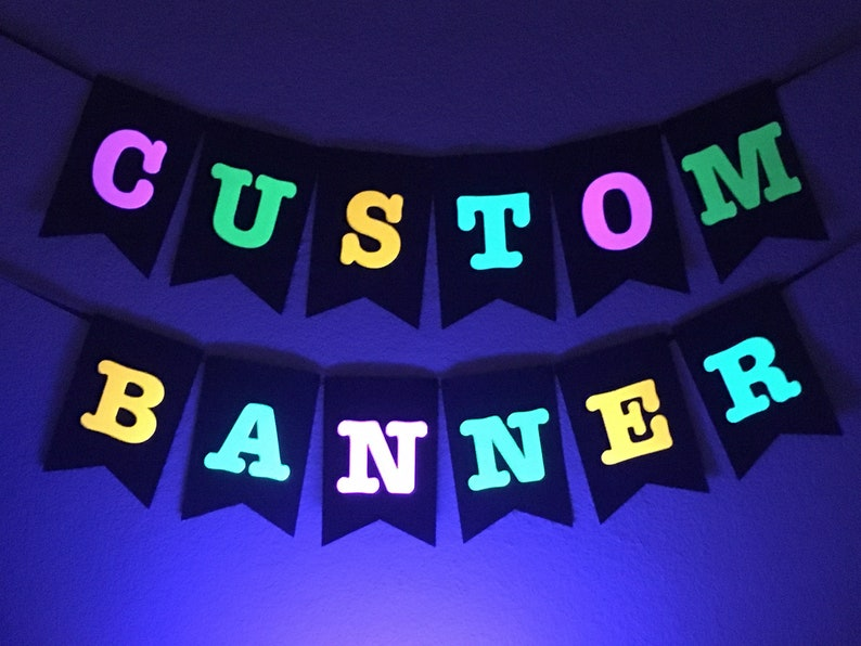 Large Neon Banner for Glow Party Customized Neon Banner image 0