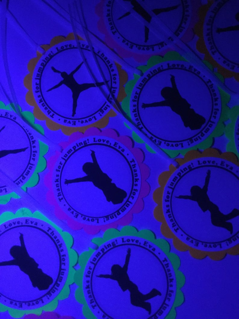 Glow Party Decorations / Black light neon party tags image 0