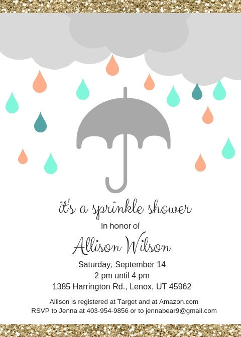 6a8c7d6e427 It s a Sprinkle Shower baby or bridal shower invitation digital file to  download