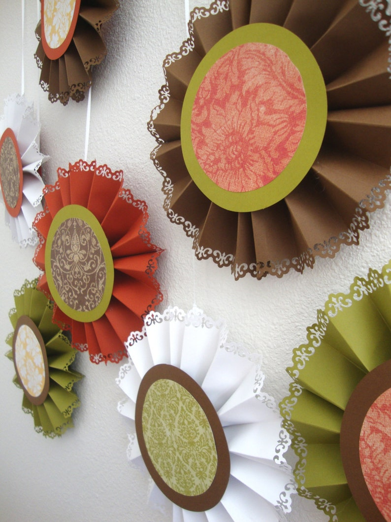 Shades of Autumn paper medallions image 0