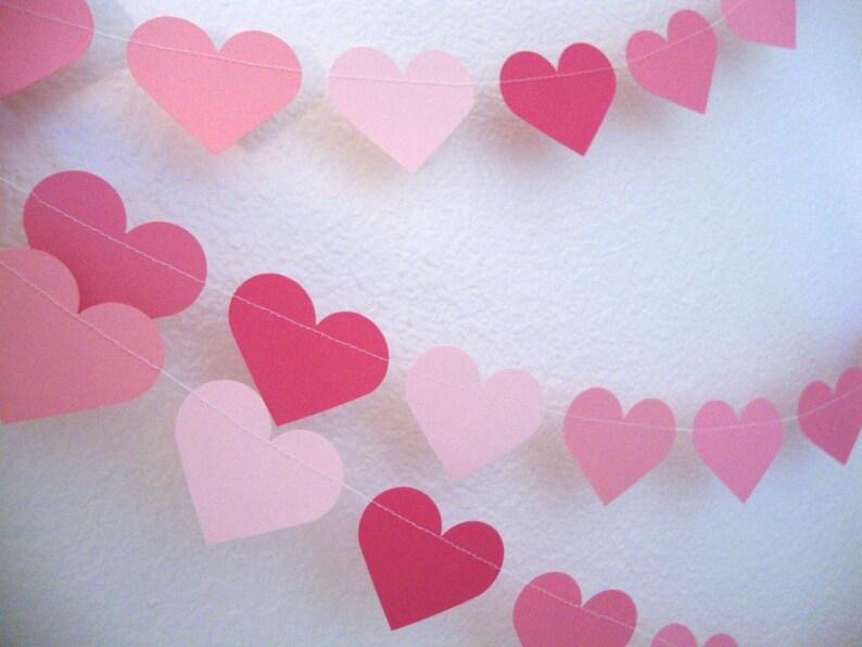 Paper heart garland three-strand heart garland wedding image 0