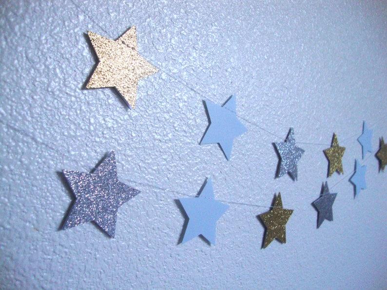 Glitter star garland image 0
