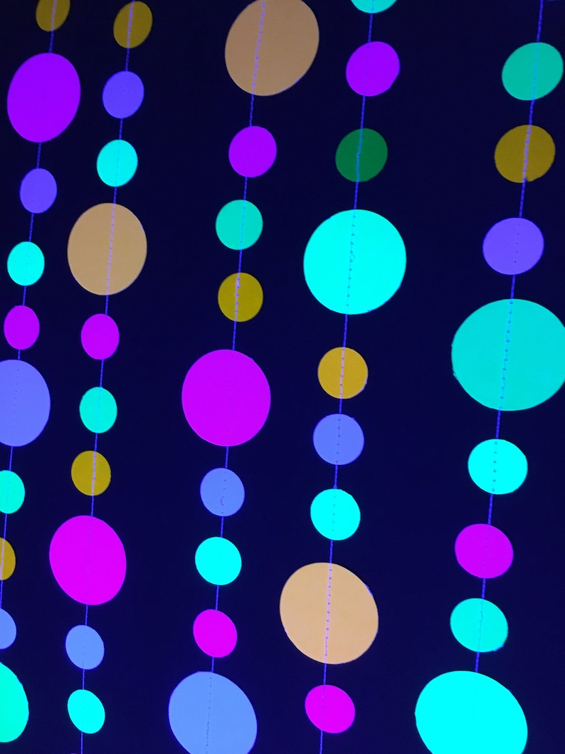 Glow Party Decorations Neon garlands for black light party image 0