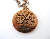 CELTIC Copper Tree of Life IRISH Necklace-Ireland Jewelry