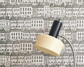 Removable Wallpaper // Townhouses Print // Eco friendly // Fully Removable // Perfect for renters