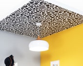 Removable Wallpaper // Muse Noir // ADHERES to walls and shelves // Perfect for renters