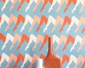 Removable Wallpaper / Leggy Guggenheim Print / Assorted lengths / Perfect for Renters and owners