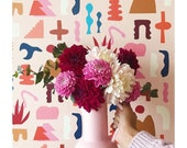 Removable Wallpaper // Sierra Print // Assorted Lengths // ADHERES to walls and shelf surfaces