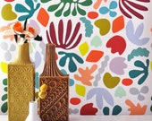 Removable Wallpaper // Muse in multicolor // Adheres to walls and shelves and is removable