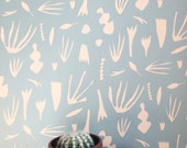 Removable Wallpaper // Reef Ocean Wallpaper // Perfect for renters and DIY projects