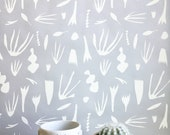 Removable Wallpaper // Reef Print // Adheres to walls and shelves // Fully removable