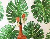 Removable Wallpaper // Monstera Leaf // Perfect for renters and DIY projects
