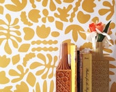 Removable Wallpaper // Muse Mustard // Removable and perfect for renters