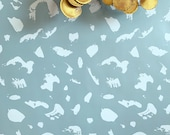 Removable Wallpaper / Painted Palette in London Fog / Assorted quantities / Perfect for Renters
