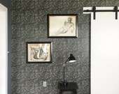 Removable Wallpaper / Grove Noir Wallpaper / Assorted lengths / Perfect for Renters and owners