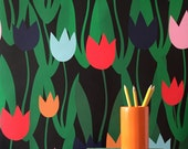 Removable Wallpaper / Tulip Shakur Print / Assorted Lengths / Perfect for Renters or Owners