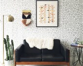Removable Wallpaper / Muse in Grey / Assorted quantities / Perfect for Renters