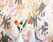 Removable Wallpaper // Getting Handsy // Perfect for homes and rental apartments