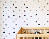 Removable Wallpaper // Sierra Southwest Neutrals // Perfect for renters // Assorted lengths available