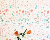 Painted Wild Removable Wallpaper // Eco friendly // Adheres to walls and shelf surfaces
