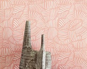 Removable Wallpaper / Grove Terra Cotta Print / Assorted lengths / Perfect for Renters and owners