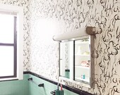 Removable Wallpaper / Figures Pattern / Perfect for renters / fully removable