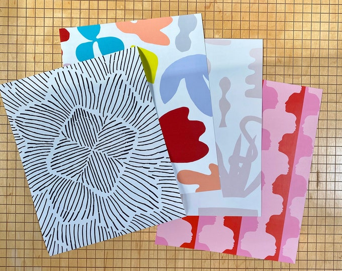 """Wallpaper Samples // 8""""X10"""" // Perfect for renters and DIY crafters // Choose your prints"""