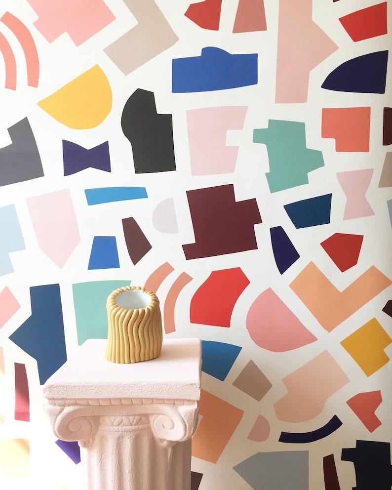 Removable Wallpaper // City Plan // Adheres to walls and image 0