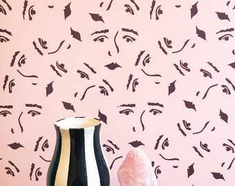 Land of Women Removable Wallpaper // Perfect for renters and DIY projects