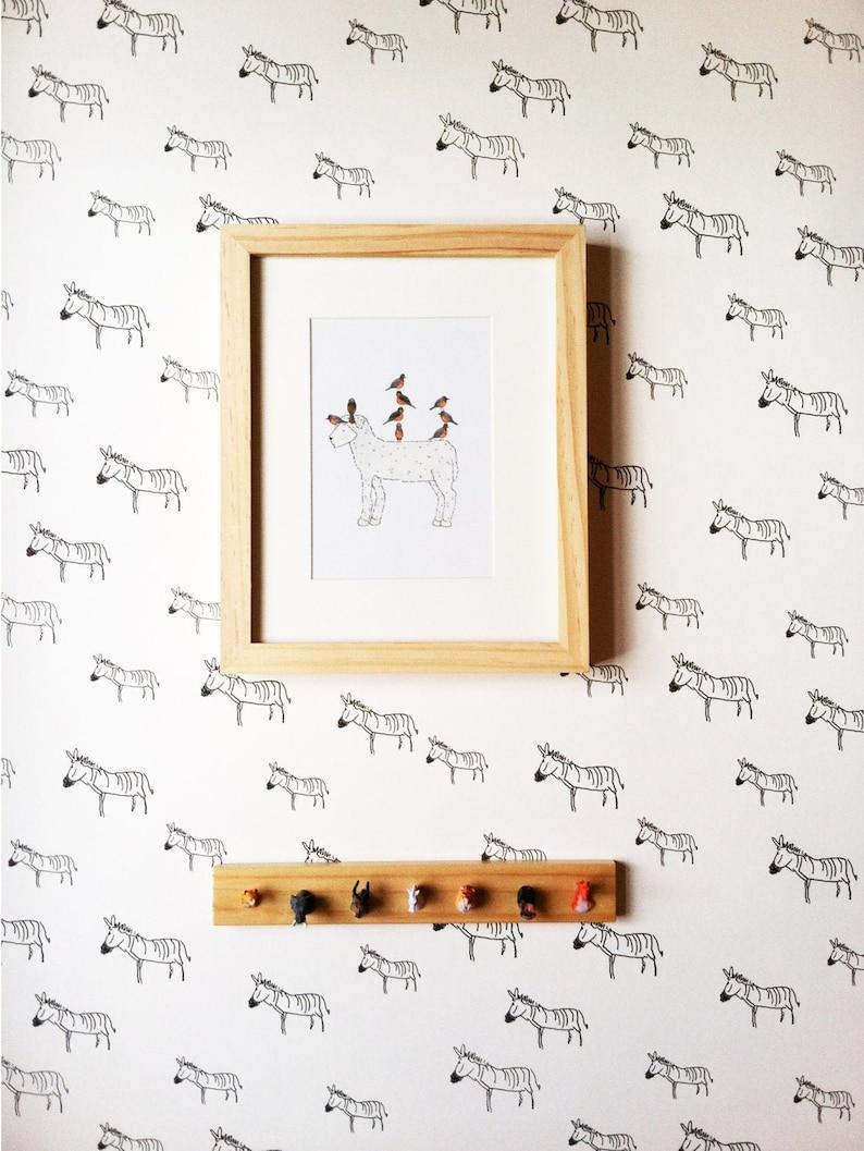 Removable Wallpaper // Zebra Print // Assorted lengths // image 0