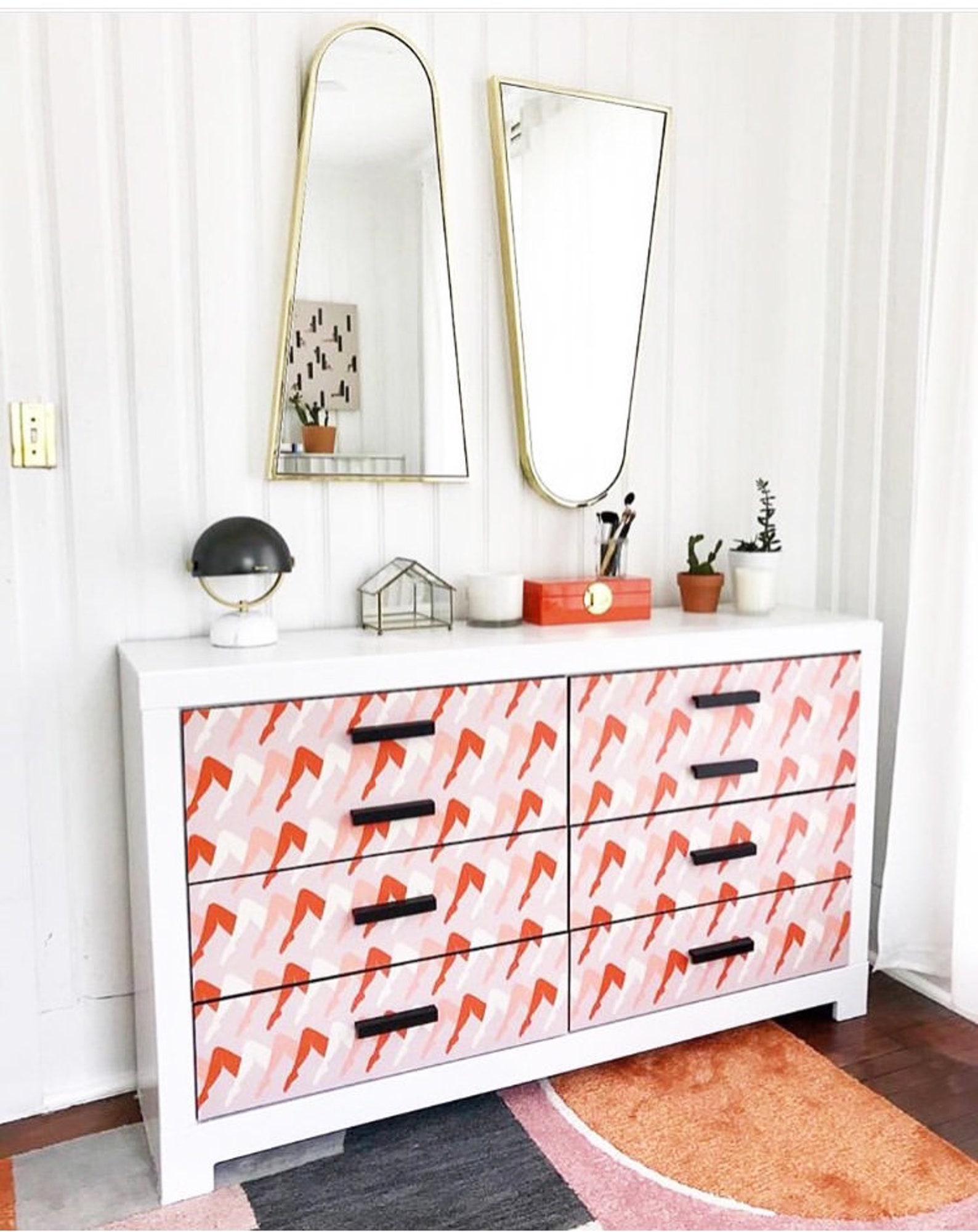 Removable Wallpaper Decals for Dresser Drawers