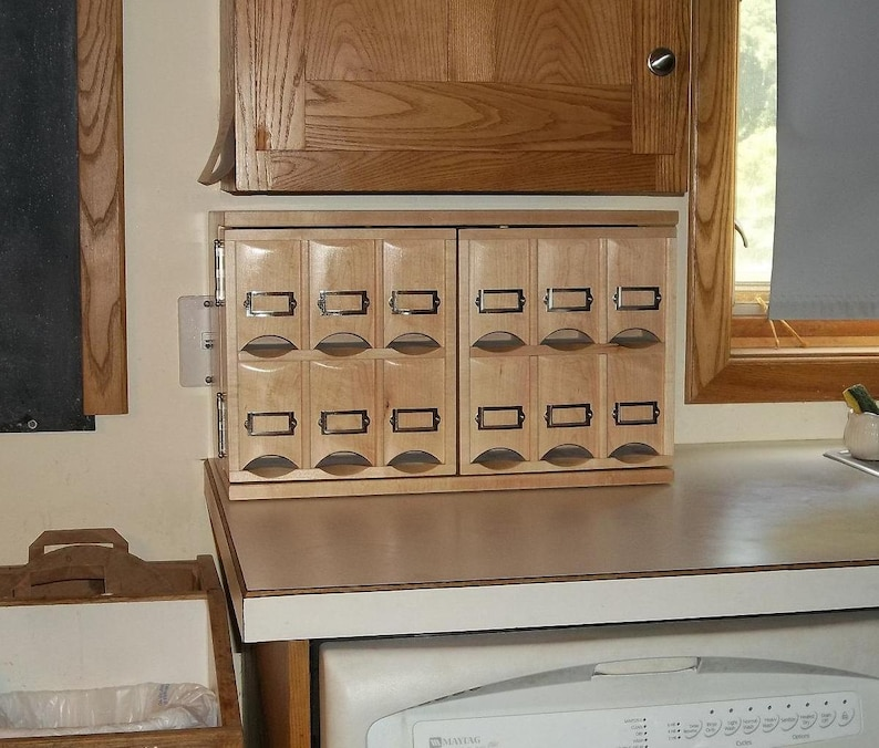 Small Countertop Tea Storage Cabinet Made When Ordered Etsy