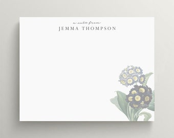 personalized stationery set, flat note card set, modern floral note card, floral stationery, dark moody florals