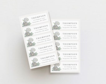 personalized return address labels, floral address labels, weatherproof address labels, return address stickers, moody florals