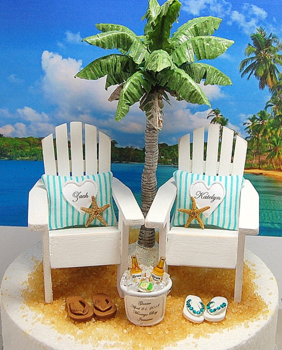 Beach Wedding Colors.6 Beach Wedding Cake Topper Request Your Wedding Colors No Base