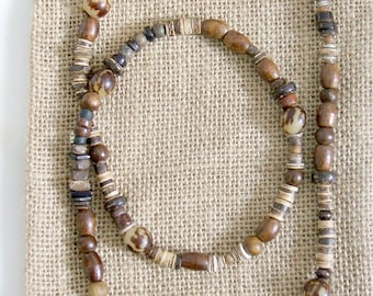 Men's Buri Beaded Tribal Beach Necklace